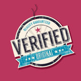 Verified quality tag. Verified quality guaranteed tag Royalty Free Stock Photos