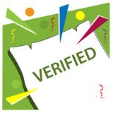 Verified with reminder paper stock vector royalty free illustration