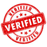 Verified rubber vector stamp Royalty Free Stock Image