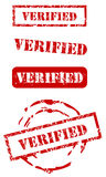 Verified stamp set Royalty Free Stock Images