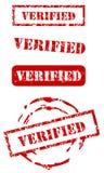 Verified stamp set. Verified grunge rubber stamp set stock illustration