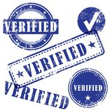 Verified  stamp set. Set of Verified  stamp. The element are isolated Royalty Free Stock Photography