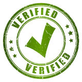 Verified vector stamp Stock Photo