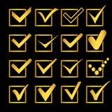 Verifique correto, confirme a ilustração do símbolo da marca Vetor ilustração royalty free