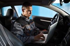 Verifique a eletrônica do carro fotos de stock royalty free
