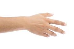 Verifique a mão foto de stock