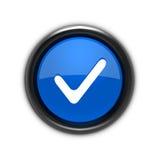 Verifique o ícone Imagem de Stock