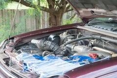 Verifique o motor de automóveis Imagens de Stock