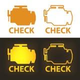 Verifique o sinal de aviso do motor ilustração royalty free