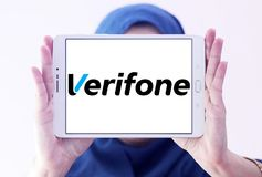 Verifone-Firmenlogo Lizenzfreies Stockbild