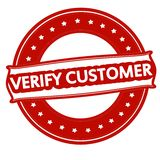Verify customer. Rubber stamp with text verify customer inside,  illustration Royalty Free Stock Photography