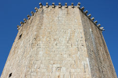 The Veriga Tower in Trogir. Detail shot of The Veriga Tower in castle Kamerlengo, Trogir Royalty Free Stock Photo