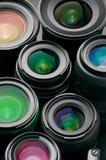 Verious fotografii obiektywy fotografia stock