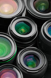 Verious photo lenses Royalty Free Stock Photography