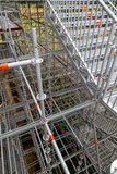 Veritable maze of scaffolding. Complex scaffolding installation being used during renovation of large stately home royalty free stock photography