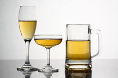 Verity Glasses with alcohol Stock Image