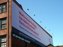 Verizon Ad on 150-foot-Wide Billboard Royalty Free Stock Photo