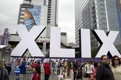 Verizon Super Bowl XLIX Fan Central Phoenix stock images