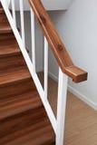 Verja de madera de la escalera Imagen de archivo libre de regalías