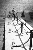Verja en los pasos en Frognerpark Oslo imagen de archivo