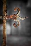 Verja oxidada del vintage Fotografía de archivo