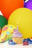 Verjaardag cupcake Stock Afbeelding