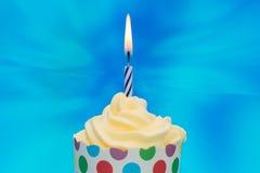 Verjaardag cupcake Royalty-vrije Stock Foto's