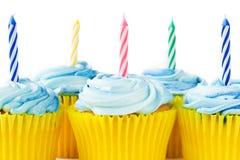 Verjaardag cupcakes Royalty-vrije Stock Foto