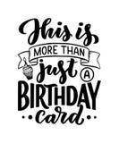 Verjaardag het van letters voorzien in retro stijl De kaart van de verjaardagsuitnodiging Uitstekend uitnodigingsmalplaatje voor  vector illustratie