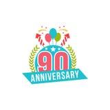 Verjaardag negentig jaar aantal Stock Afbeeldingen