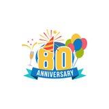 Verjaardag tachtig jaar aantal Stock Foto