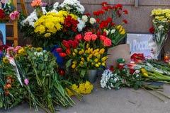 Verjaardag van moord van de oppositional politicus Boris Nemts royalty-vrije stock afbeelding