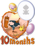 Verjaardag, van tien maanden voor baby Royalty-vrije Stock Afbeelding