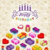 Verjaardag vector het verfraaien ontwerp Royalty-vrije Stock Fotografie