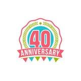 Verjaardag veertig jaar aantal Stock Fotografie
