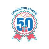 Verjaardag vijftig jaar aantal Royalty-vrije Stock Fotografie