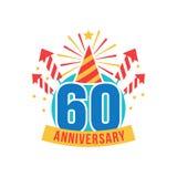 Verjaardag zestig jaar aantal Stock Afbeeldingen