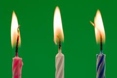 verjaardags kaarsen Royalty-vrije Stock Afbeelding