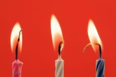 verjaardags kaarsen Royalty-vrije Stock Foto