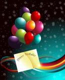Verjaardagsachtergrond. Stock Foto's