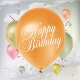 Verjaardagsaffiche royalty-vrije illustratie