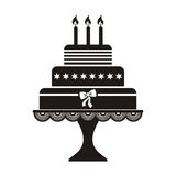 Verjaardagscake Royalty-vrije Stock Fotografie