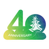 Verjaardagsembleem 40 jaar Stock Foto's