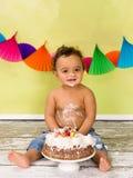 Verjaardagsglimlach royalty-vrije stock fotografie