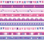 Verjaardagsgrenzen Royalty-vrije Stock Afbeeldingen