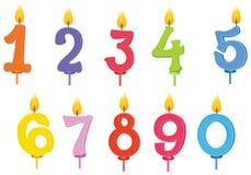 Verjaardagskaarsen stock illustratie