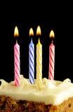 Verjaardagskaarsen Stock Afbeeldingen