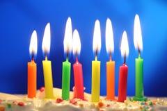 Verjaardagskaarsen Stock Foto