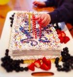 Verjaardagskaarsen Stock Afbeelding