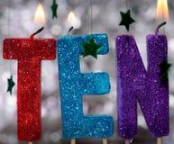 Verjaardagskaarsen Royalty-vrije Stock Afbeelding